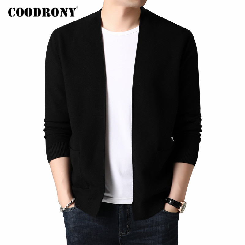 COODRONY Brand Cardigan Men Streetwear Fashion Coat Cardigans 2020 Autumn Winter New Arrival Soft Wool Sweater Men Pocket C1115