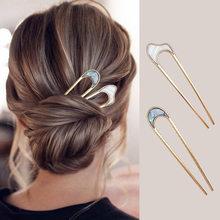 Japonya saç sopa kadınlar Hairclip sadelik renkli U şekli kız tokalar saç sopa saç aksesuarları şapkalar 2020 yeni