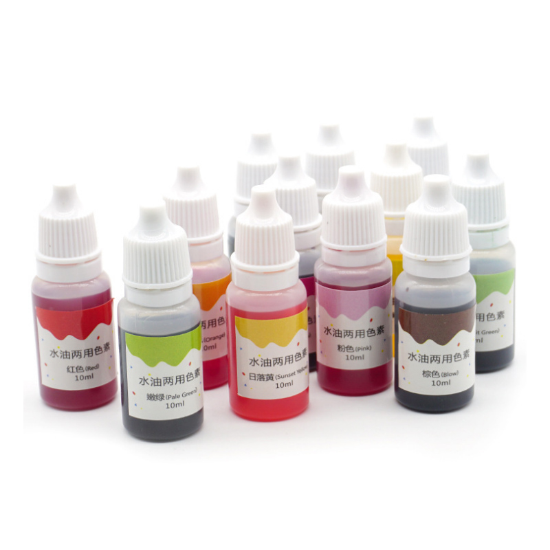 Hot 10ML Epoxy Tie Dye Resin Pigment UV Resin Coloring Dye Dye Pigment Resin DIY Handmade Crafts Equipment For Art 12 Colors PLD