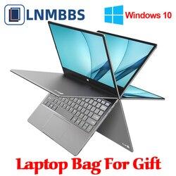 LNMBBS 360 ° LPDDR4 del computer portatile notebook da 11.6 pollici 8GB + 256GB SSD 1920*1080 FHD IPS Macchina Fotografica dual Wifi Bluetooth4.2 touch screen del computer