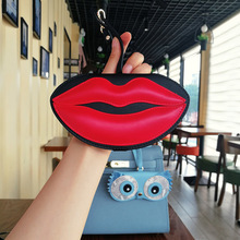Kpay Lips PU Leather Eyewear Case 2019 New Fashion Animal Cartoon Women Portable Eye Glasses Box Sunglasses Cute Protection Bags