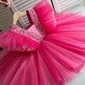 Летнее платье для девочек, платье принцессы на день рождения, детское платье с блестками и бантом, бальное платье с цветочным рисунком для д...