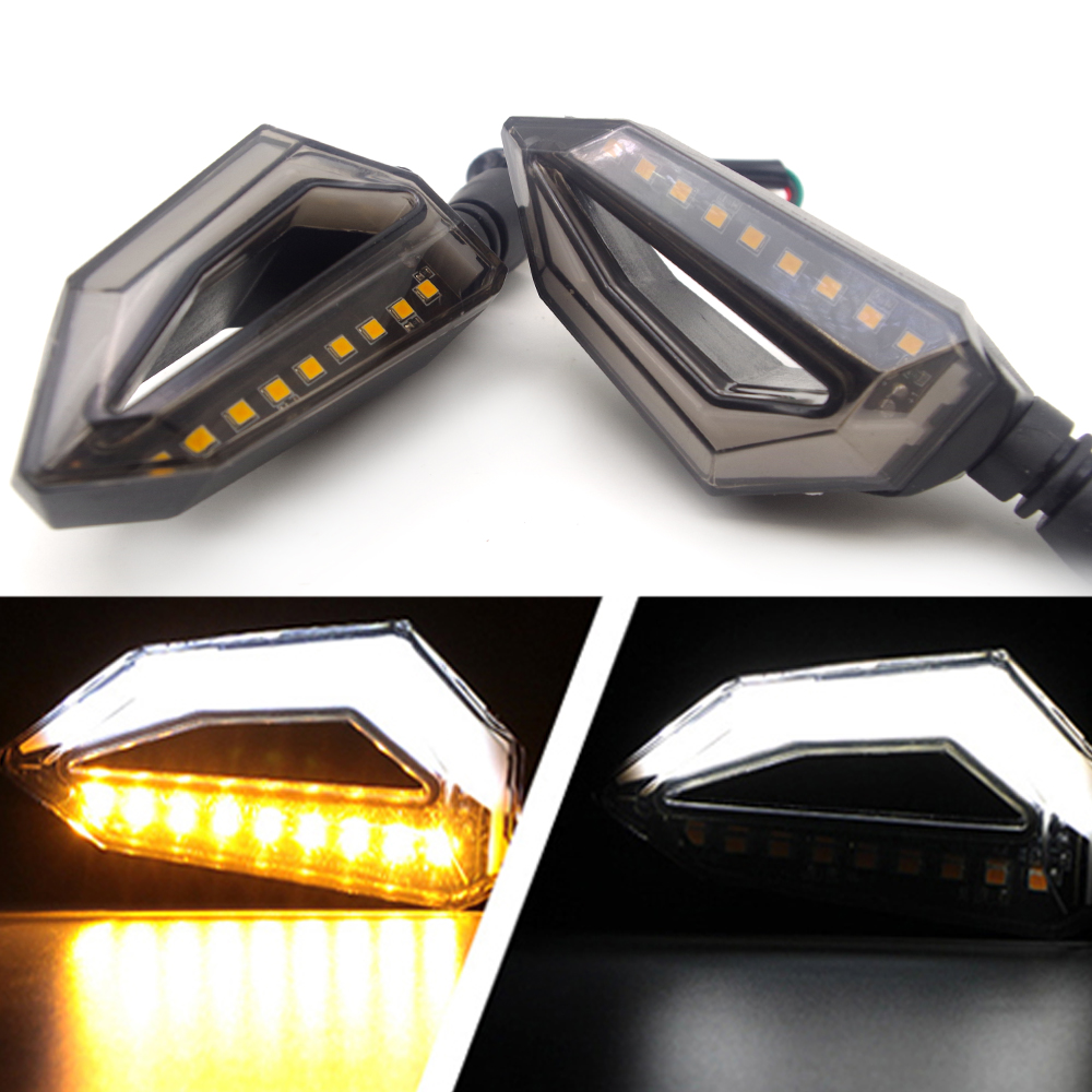 Universal Motorcycle Turn Signal Lights Lamp Amber LED Intermitentes Moto FOR Cb650r Suzuki Vstrom Dl650 Cafe Racer Light Vespa