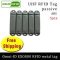 UHF RFID Метка omni-ID EXO800 915 МГц 868 МГц Impinj Monza4QT EPC 5 шт. Бесплатная доставка Прочная ABS смарт-карта Пассивная RFID бирка