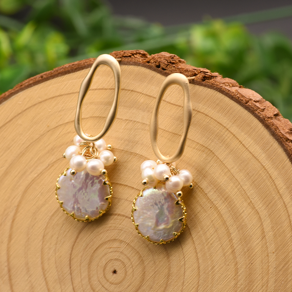 H55c0e5134963413e9e50a739f757da2eT - GLSEEVO Natural Fresh Water Baroque Pearl Earrings For Women Plant Leaves Dangle Earrings Luxury Handmade Fine Jewelry GE0308