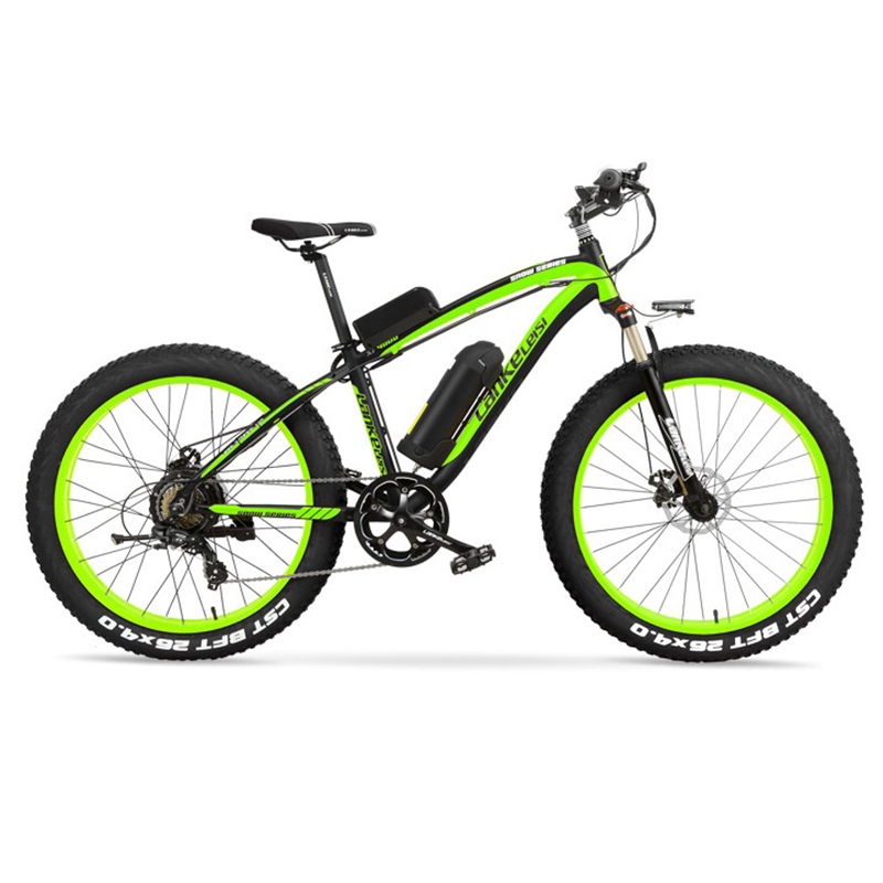 1000W Fat Electric Bike 48V Mens Mountain E bike 21 Speeds 26 inch Fat Tire Road Bicycle Snow Bike 16AH Lithium Battery