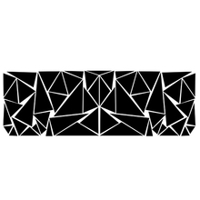 200x60cm Car Styling Matte Black Triangles Car Side Sticker Camouflage Vinyl Decal Decor Sticker Car Decoration new 130 30cm polymeric pvc matte chrome vinyl car wraps sticker color changing car sticker with air bubble car styling