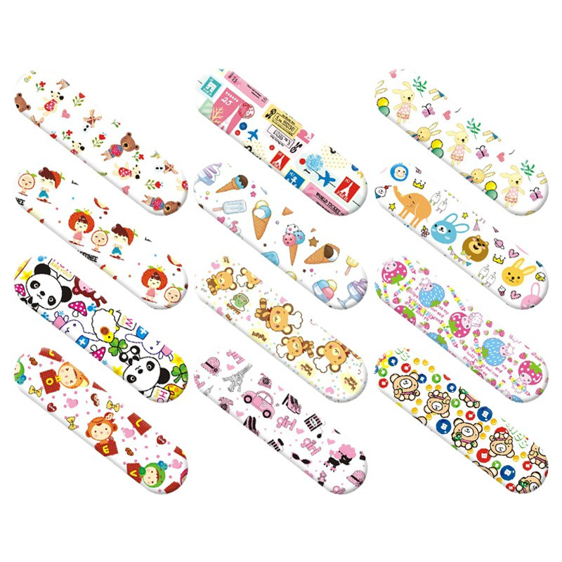 Children Cartoon Bandages Adhesive Bandages Wound Plaster First Aid Hemostasis Band Aid Sterile Stickers For Kids Bebe 120 Pcs