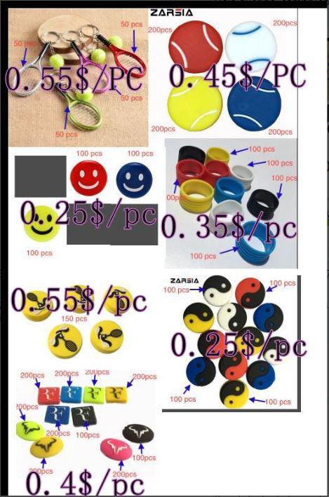 200pcs Tennis Keychain +400 Pcs Tennis Rings+3450pcs Tennis Dampeners