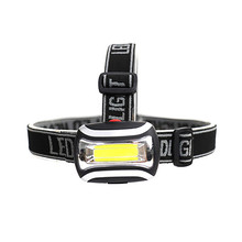 Mini 3 Modes COB Headlamp Headlight Forehead Flashlight Torch Lighting Waterproof Head Lamp Lantern For Outdoor Hunting Fishing