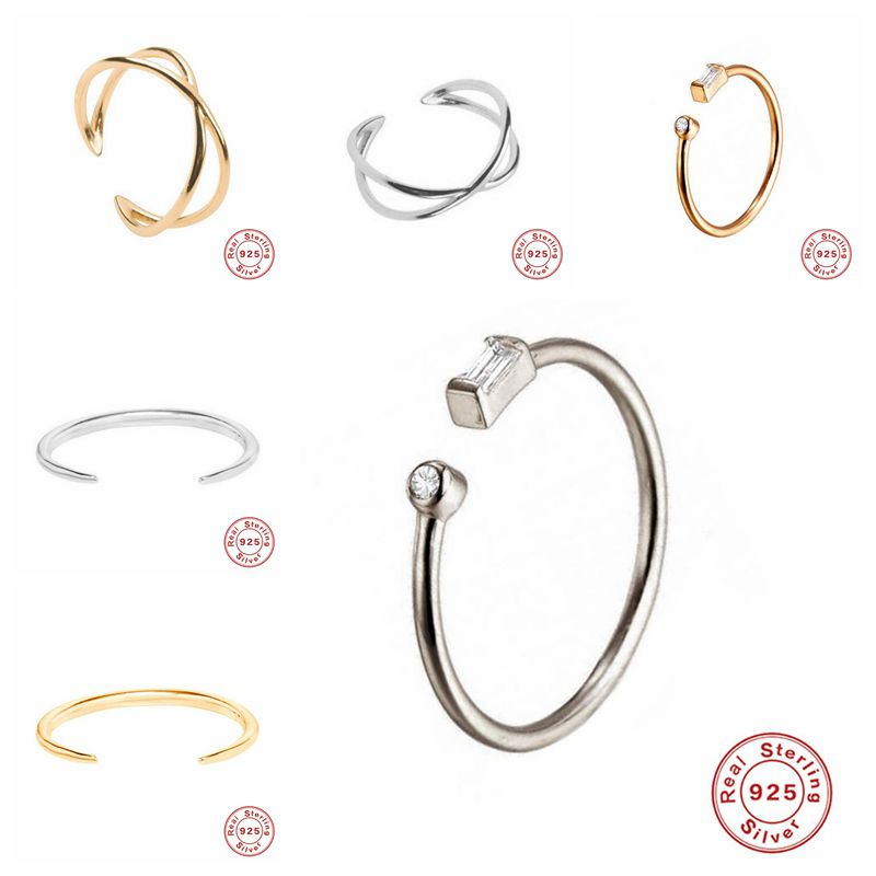 Adjustable Knuckle Sterling Silver Rings Boho Flowers Carved Heart Open Ring Set Vintage Women Gifts Beach Jewelry A30