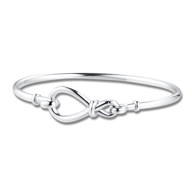 Mother's Day Infinity Knot Bangle 925 Silver Bracelets For DIY Woman Fashion Bracelets For Jewelry Making