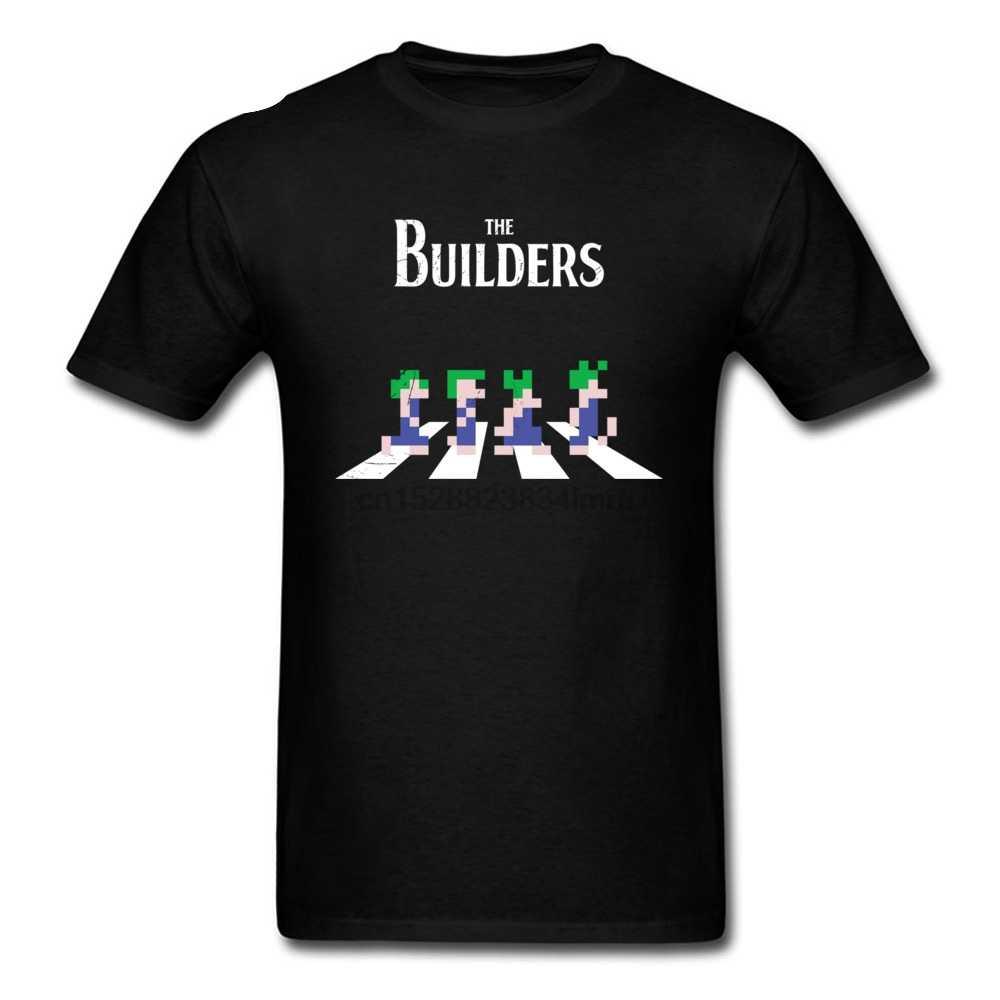 Camisetas divertidas baratas para hombre los constructores Lemming Road camiseta foto completa algodón ocio camisetas para hombres Camiseta ajustada