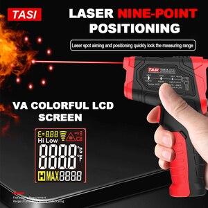 Image 2 - TASI 880 מעלות צלזיוס צבעוני תצוגה גבוהה טמפרטורת אינפרא אדום לייזר מדחום