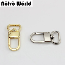 50 stuks 3/4 inch 2cm top eindigend goud zilver tone trigger tag snap haak sluiting, metalen clip swivel hondenriem