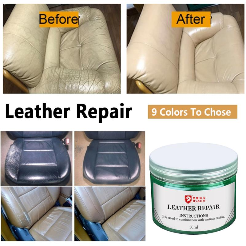 50ml Leather Repair Cream Car Leather Polishing Waxing Care Kit Auto Seat Sofa Coats Shoes Scratch Cracks Restoration TSLM1