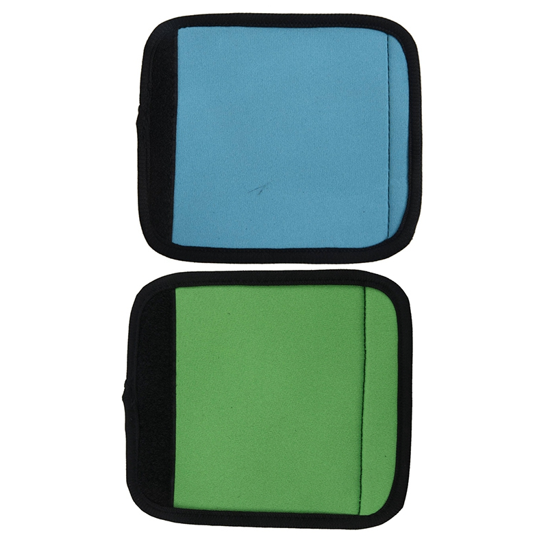 2Pcs Travelling Luggage Suitcase Handle Comfort Wraps Identifier Tags Blue & Green
