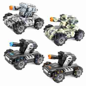 Tank Toy 360 Degree Rotating Drift RC Remote Control Gesture Sensing 2.4G Super RC Tank Drift Charger Battle Launch Toy