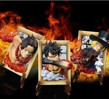Una pieza Luffy as Sabo efecto 3D marco Anime juguetes 120mm una pieza figuras de acción Luffy as Sabo estatua modelo de juguete