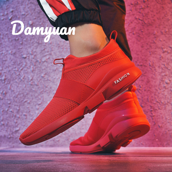 Damyuan 2019 New Fashion Men Women Flyweather Comfortable Breathable Non-leather Casual Light Size 46 Sport Mesh Jogging Shoes 1