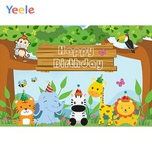 Yeele Cartoon Giraffe Baby Birthday Party Wallpaper Photography Backdrop Personalized Photographic Background For Photo Studio(China)