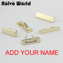 10-50 pieces,Laser Engrave Your Brand On Label,Sewing crafts rectangle metal purse label tags,sew bags handmade metal labels tag