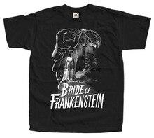 Camiseta do cartaz do filme da noiva de frankenstein v33 (preto) todos os tamanhos S-5XL
