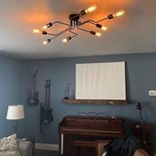 Sputnik Chandelier Lamparas Ceiling-Lamp Multiple-Rod Home-Lighting-Fixture Kitchen Island