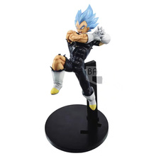 Original Banpresto Dragonball Super Heroes Vegeta Blue Figure Day Fighters PVC action figure model Figurals Dolls japan anime fate apocrypha original banpresto collection figure ruler overseas limited