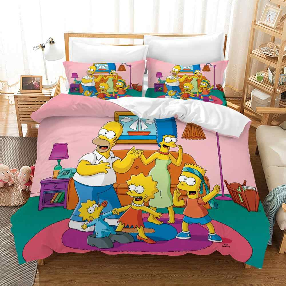 120g High Grade Fabric The Simpsons Bed Linens Duvet Covers Pillowcases Comforter Bedding Sets Bedclothes Bed Linen Bed Set