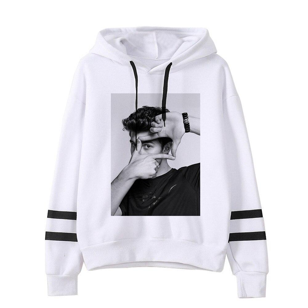 New Shawn Mendes Hoodie Autumn Ms. Hoodie Print Hip Hop Sports Hoodie Men's Long Sleeve Hoodie Pullover Jacket