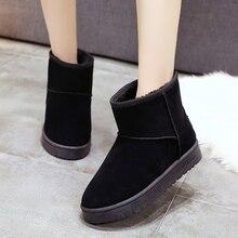 Женские теплые ботинки с мехом повседневные на плоской подошве