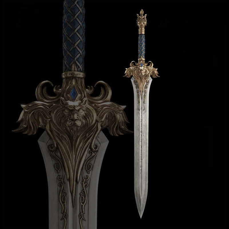 Cos World Of Warcraft Chromatically Tempered Sword Stainless Steel Material 97cm Home Decor Aliexpress