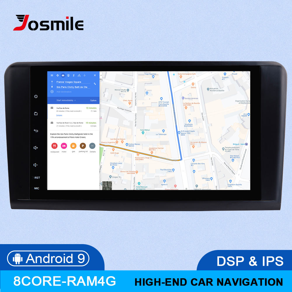 Android 9.0 4G 64G Car GPS FOR BENZ <font><b>ML</b></font> 320/<font><b>ML</b></font> <font><b>350</b></font>/<font><b>W164</b></font>(2005-2012) GL Multimedia Navigation head unit IPS DSP radio stereo NO DVD image