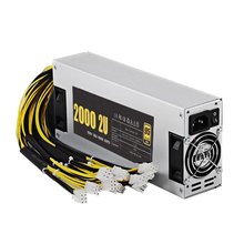 2U/4U 2000W /1800W 160-240V ATX Computer Power Supply For Mining Machine Support Graphics Card Output Rated Bitcoin Power 38cm short 2u computer case 2u industrial computer case 2u server computer case general po w er supply