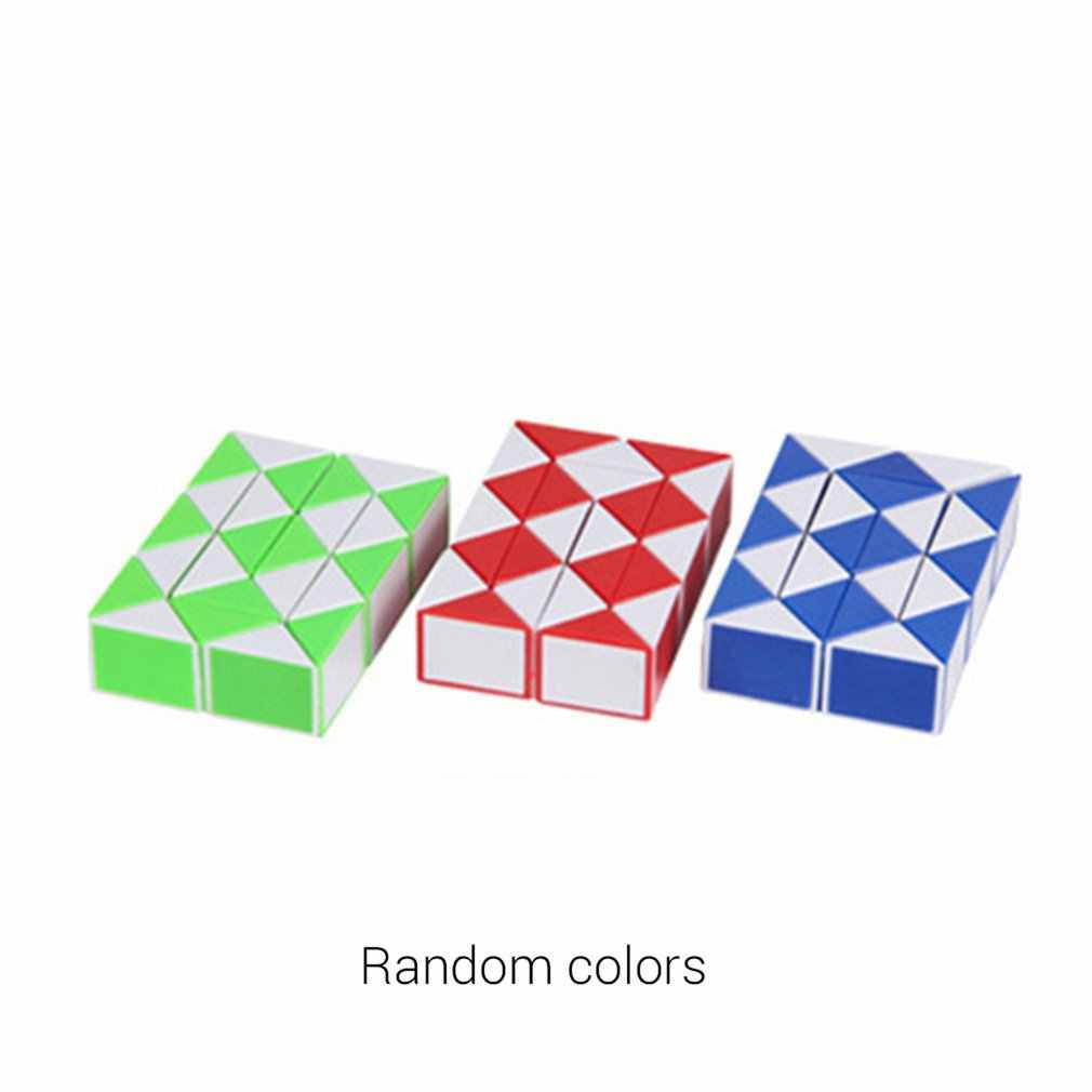 24 ウェッジマジックルーラーミニマジックツイストパズルキューブゲームツイスティーズおもちゃ教育キューブおもちゃのギフト大人の魔法定規キューブ