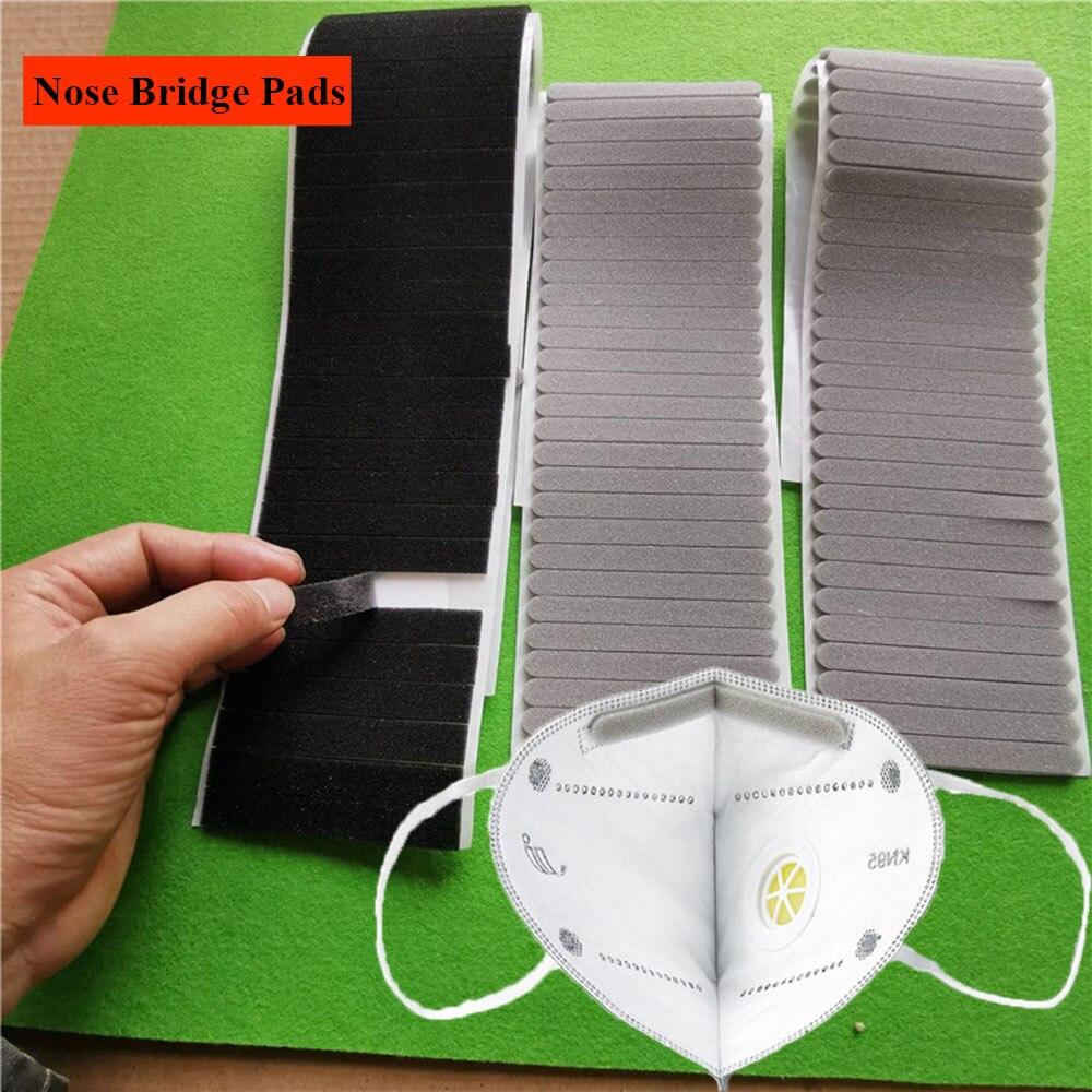 100Pcs/set Microfiber Protection Strip Foam Anti-Fog Nose Bridge Pads Cushion Mouth Mask Comfortable Sponge Protection Strip