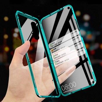 Перейти на Алиэкспресс и купить 360 магнитный чехол для Vivo Y19 Y17 U3 Y5S U20 U3X U10 Y15 Y12 Y3 IQOO Neo V9 Y85 Y95 V15 Pro всего контура Nex 3 закаленное стекло чехол на магните