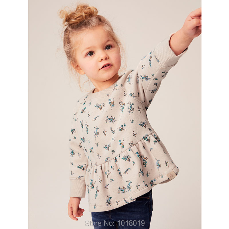 H55c2d0864eec432cb091eff7b70248aaZ Brand 100% Terry Cotton Sweater Children t shirt Blouse 2020 Baby Girl Clothes Kids Hoodies Girls s Fleeces Sweatshirt Flower