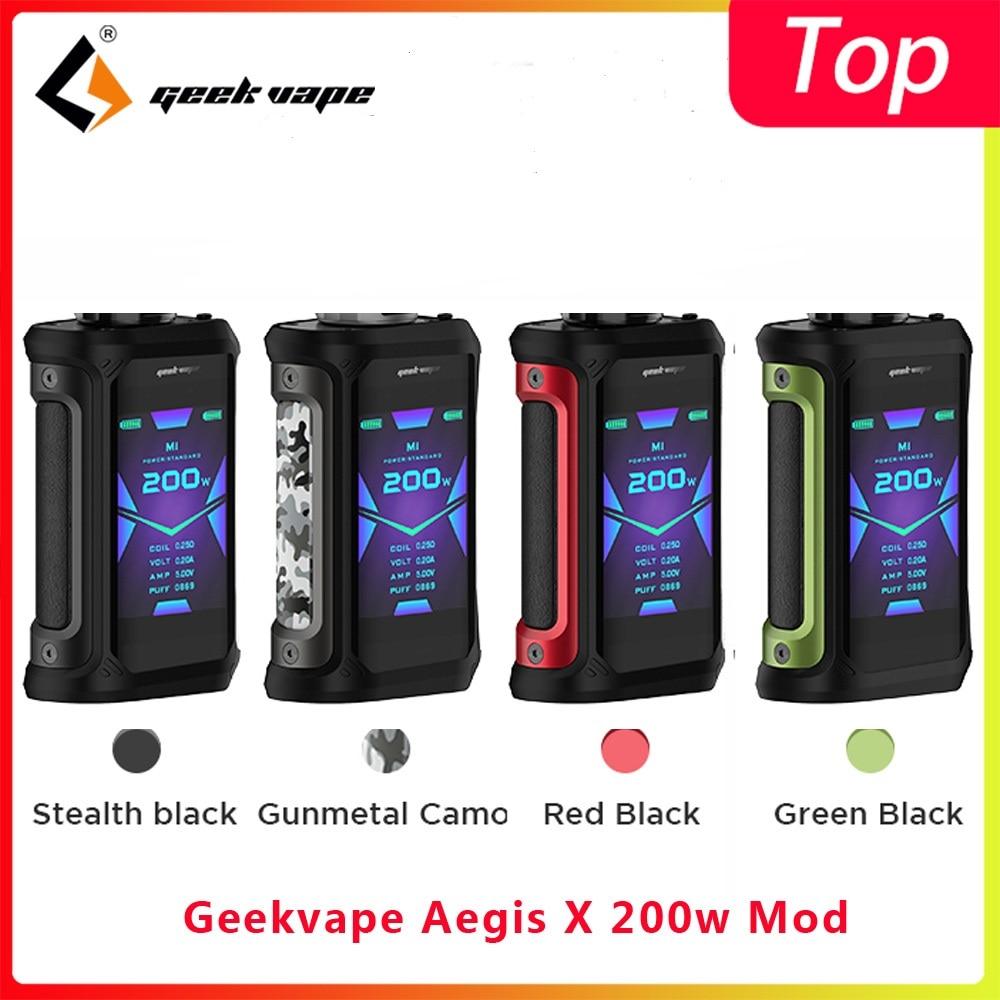 Geekvape Aegis X 200W Mod 2.0 AS Chipset Vaporizer Cigarette Box MOD Fit Zeus X Rebuildable Vaporizer Tank Vs Ehpro Cold Steel