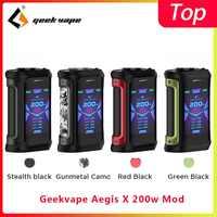 Geekvape aegis x 200 w mod 2.0 como chipset vaporizador caixa de cigarro mod apto zeus x rebuildable vaporizador tanque vs ehpro aço frio