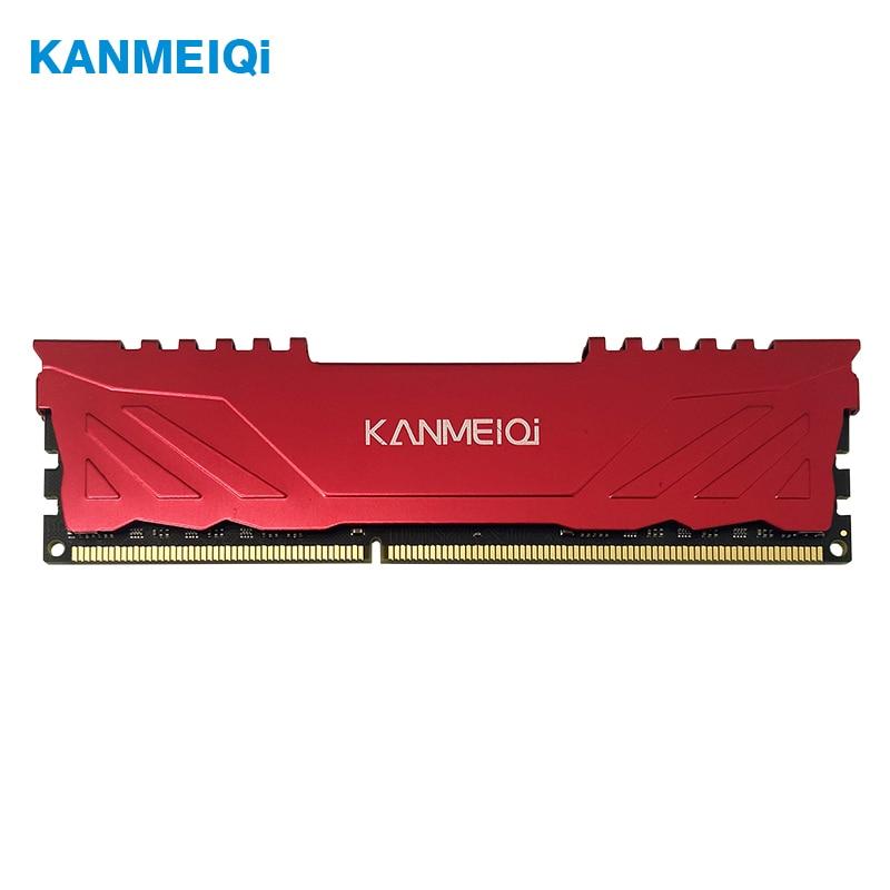 KANMEIQi ram DDR3 4GB 8GB 1333mhz 1600/1866MHz di Memoria Sul Desktop con Dissipatore di Calore dimm pc3 CL9 CL11 1.5V 240pin compatibile Intel/AMD