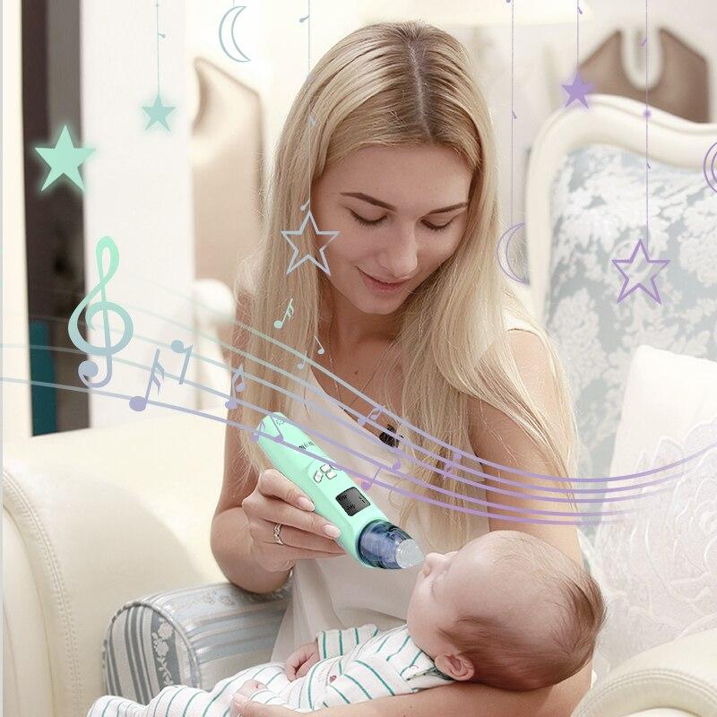 Babyfutur Детский носовой аспиратор Электрический Очиститель носа новорожденный младенец безопасная санитария носовой отвод инструмент для ...