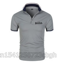 New Men Polo Shirt Boss Short Sleeve Tee Shirt Breathable Camisa Masculina Hombre Jerseys Golftennis Men Blouse Plus Size 4XL Ca