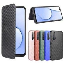 Carbon Fiber Texture Case For Realme X3 SuperZoom X50 X7 X2 7 6 5 Pro XT C17 C15 C12 C11 7i 6i 5i 6s V5 V3 5G Flip Phone Cover