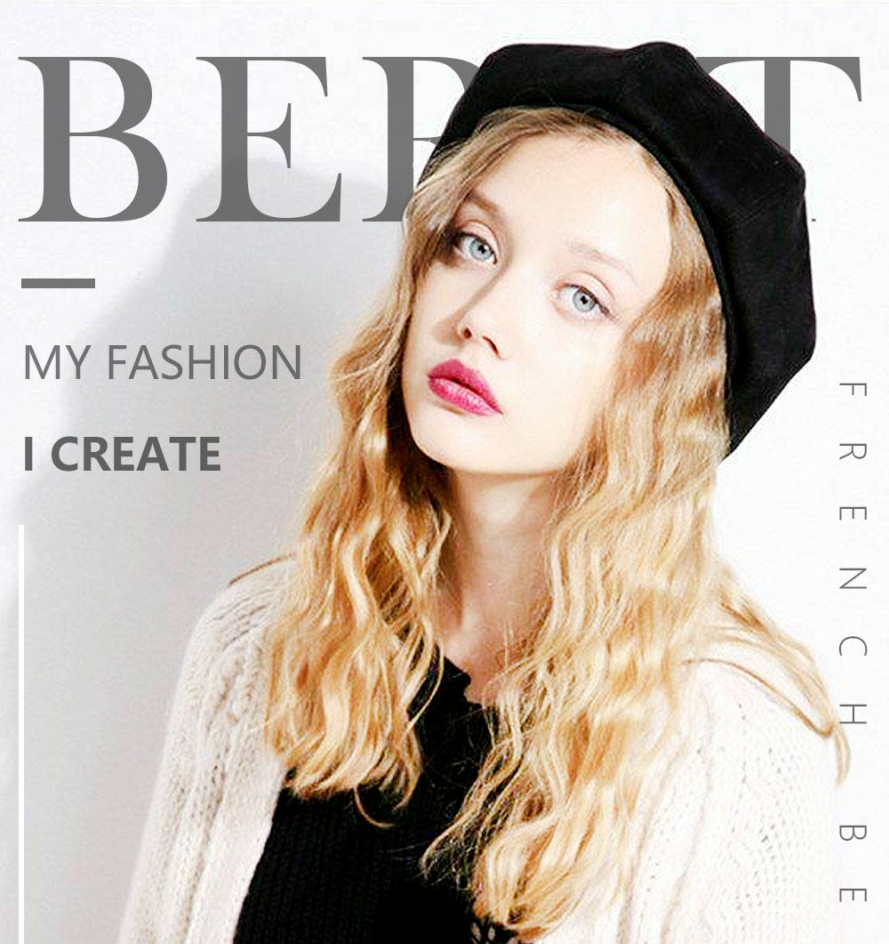 Elegant Lady Women Wool Felt Warm French Classic Beret Beanie Slouch Hat Cap Tam 22