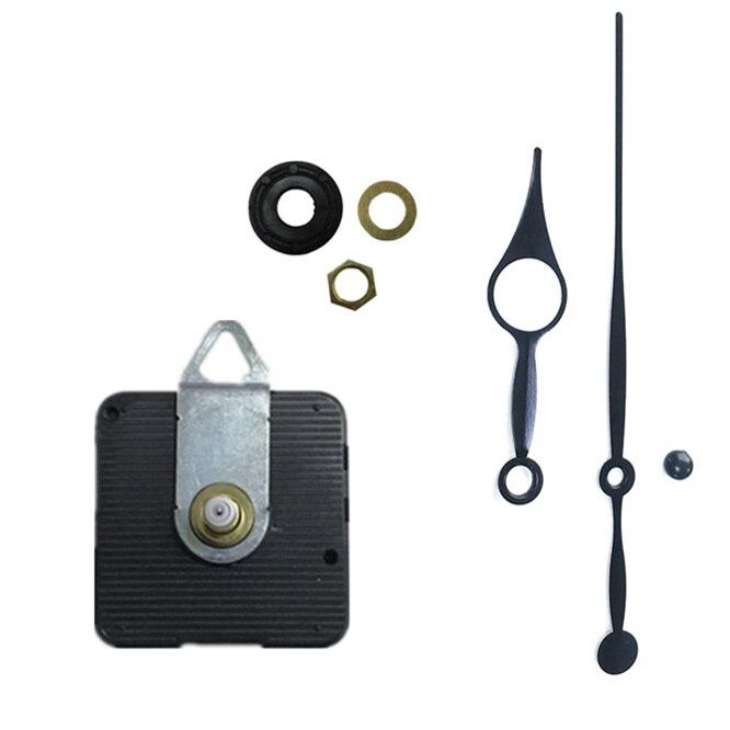 10sets/lot 8mm 12mm 18mm 20mm 24mm Shaft Black Hands Silent Wall Clock Quartz Movement Mechanism DIY Wall Clock Quartz Clock