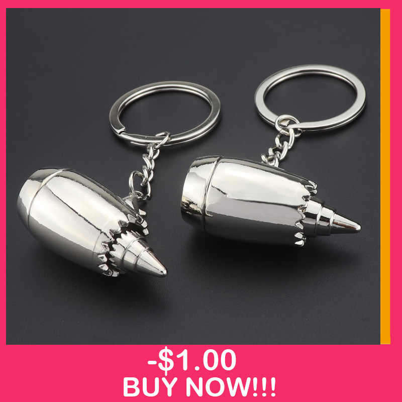 New Metal Aviation Plane Aircraft engine Key chain Turbo Car Keychain Turbocharging Fan KeyRings Auto Key Holder Keyfob