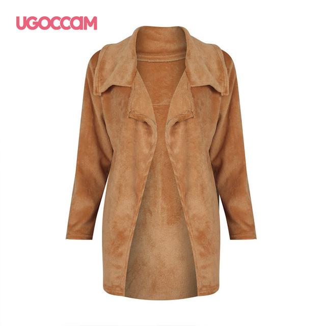 Lambswool Women Coat Winter Warm Autumn Ladies Outerwear Female Overcoat