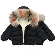 Fashion Baby Girls Boys Jackets Winter Fur outerwear Kids Warm Hooded Children Outerwear Coat Boys Girls Clothes 12M-6yrs wear(China)